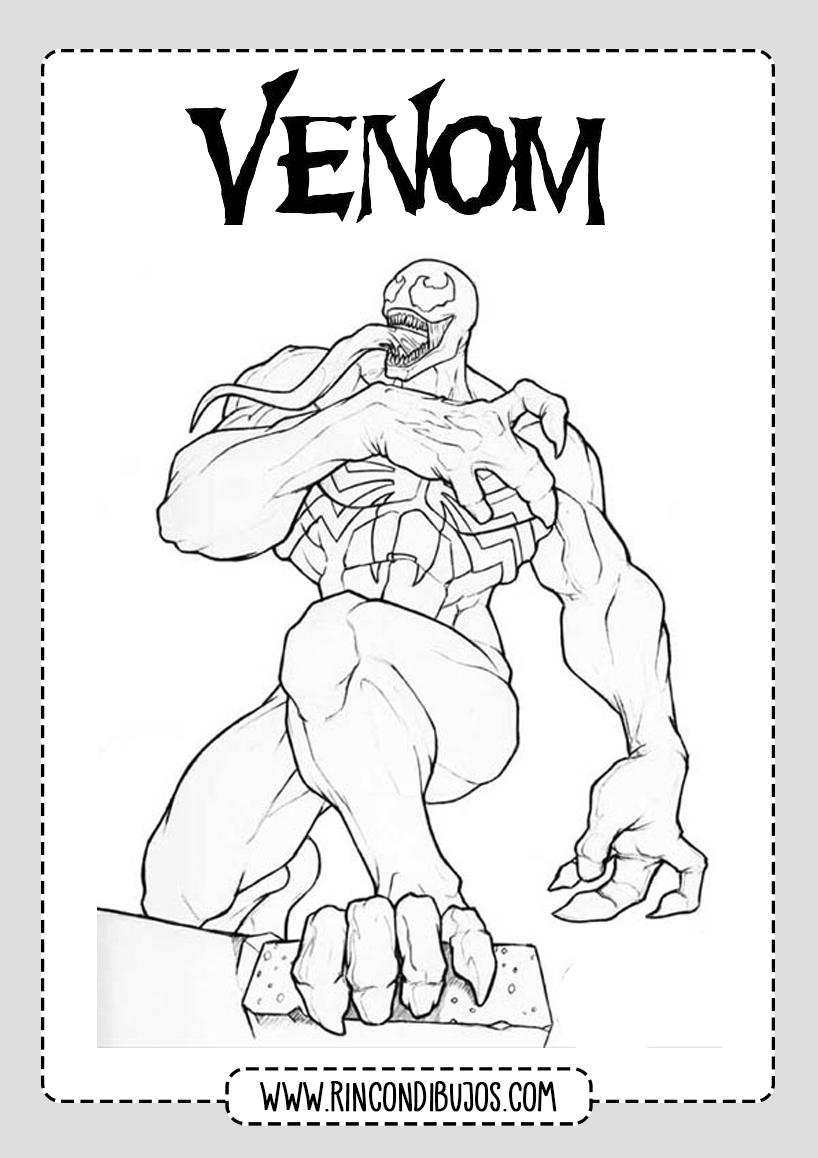 Dibujos de Venom Para Colorear GRatis