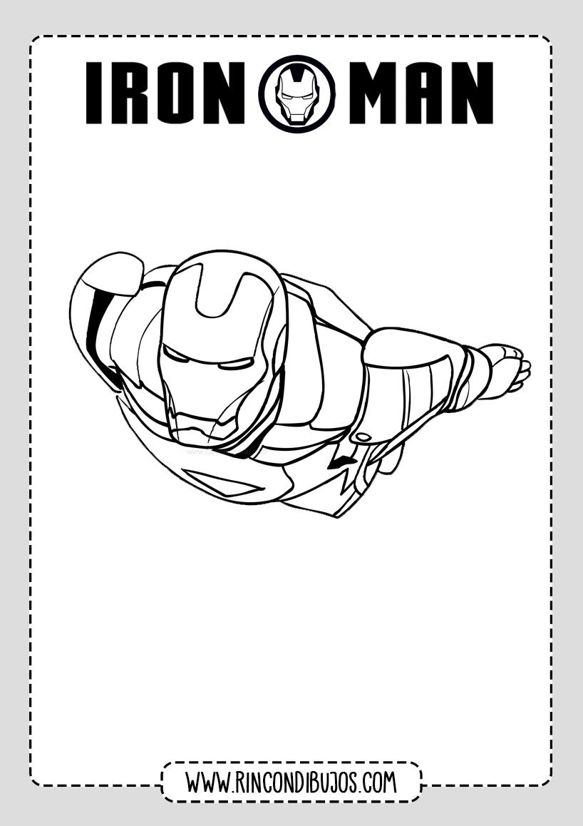 Dibujos para Imprimir y Colorear de Iron Man