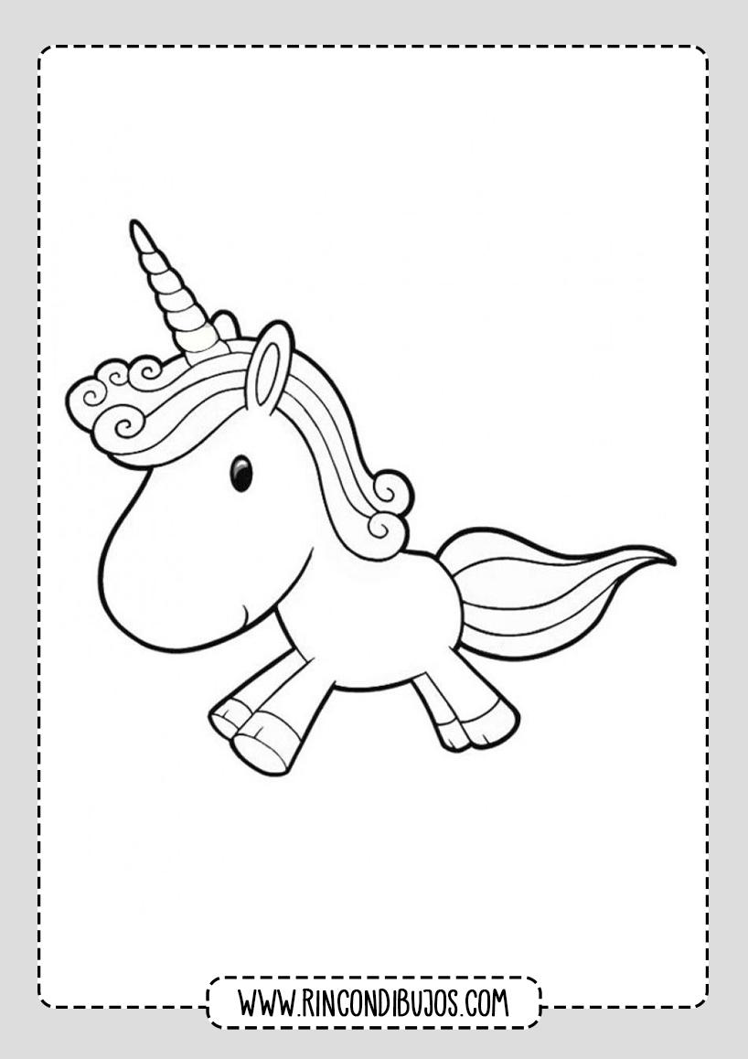 Dibujos pra colorear de Unicornios