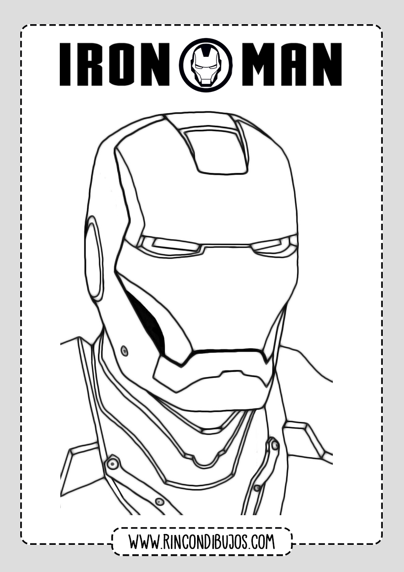 Iron Man Dibujos para Imprimir