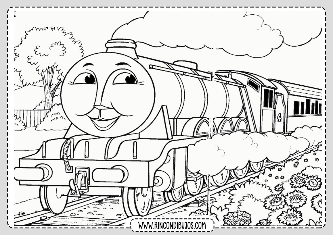 Laminas Dibujo de Trenes Colorear