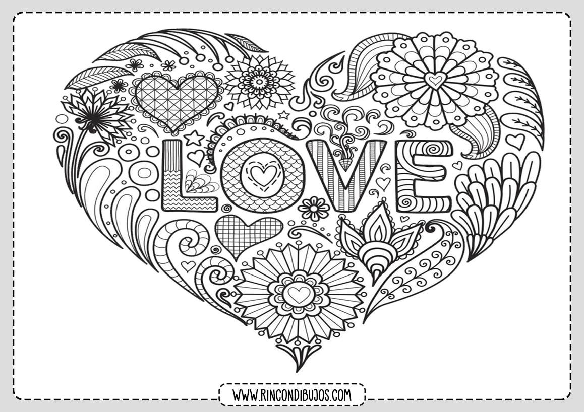 Love Dibujos de Amor Colorear