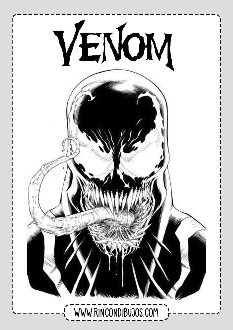 Plantilla Venom Colorear