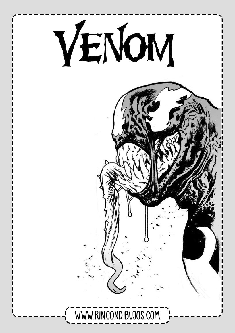 Venom Colorear Gratis