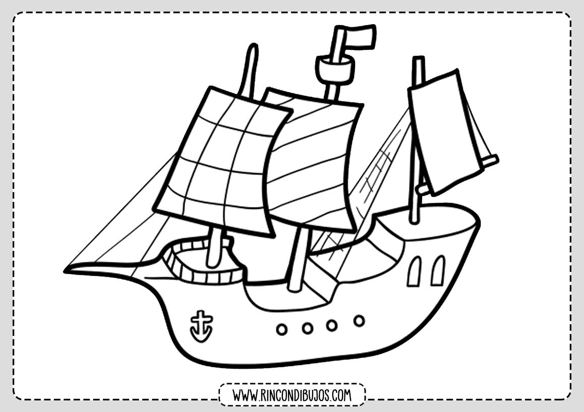 Barco Pirata Dibujo Colorear