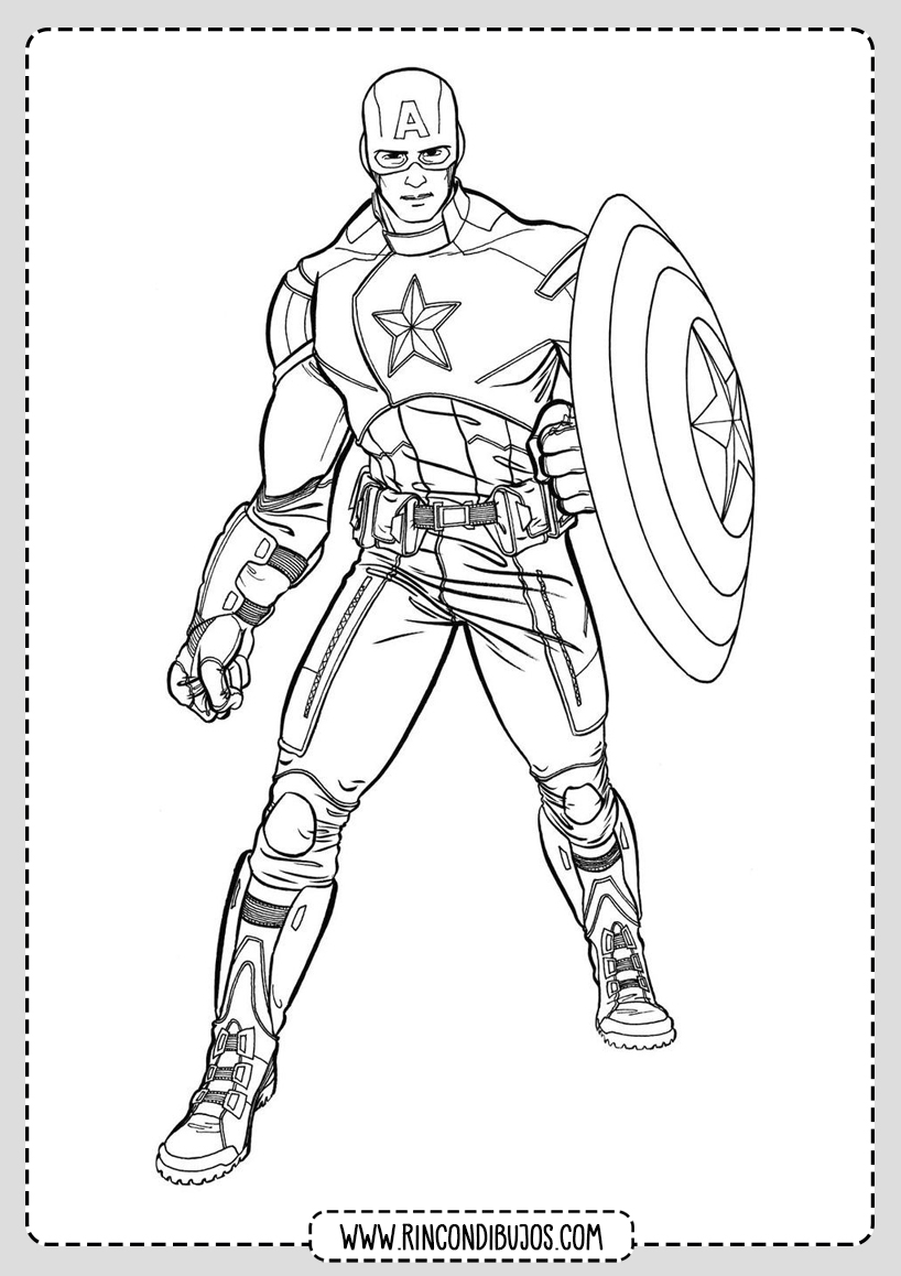 Capitan America Coloring Pages
