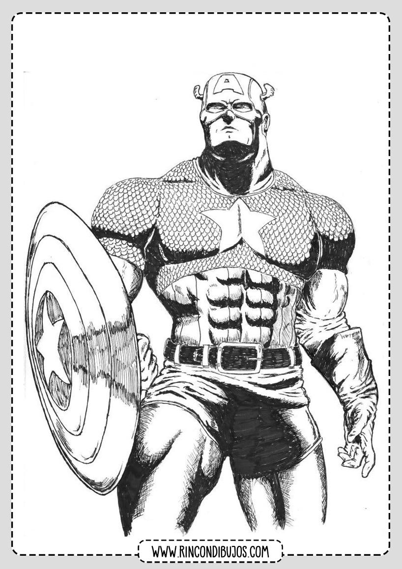 Capitan America Dibujo