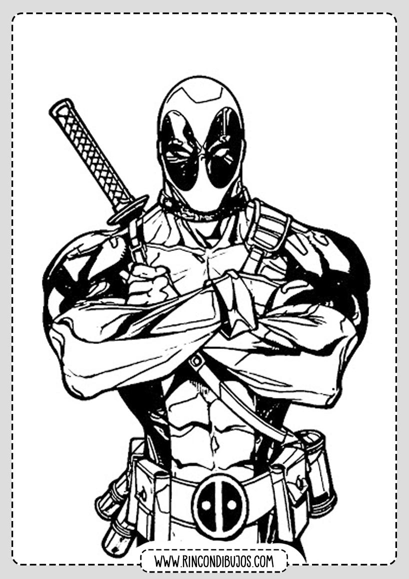 Colorear Dibujos de Deadpool