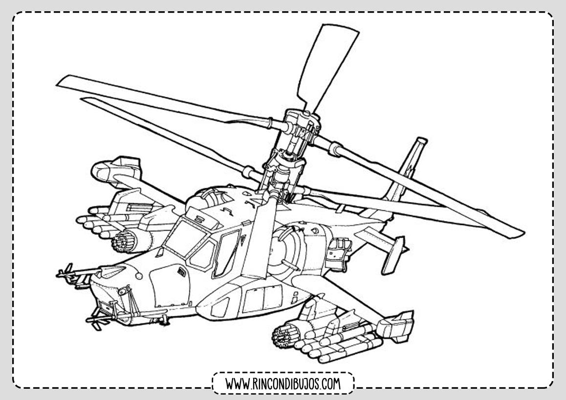 Colorear Dibujos de Helicopteros
