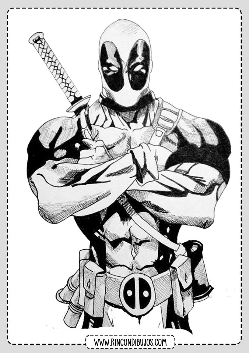 Como dibujar y Colorear Deadpool