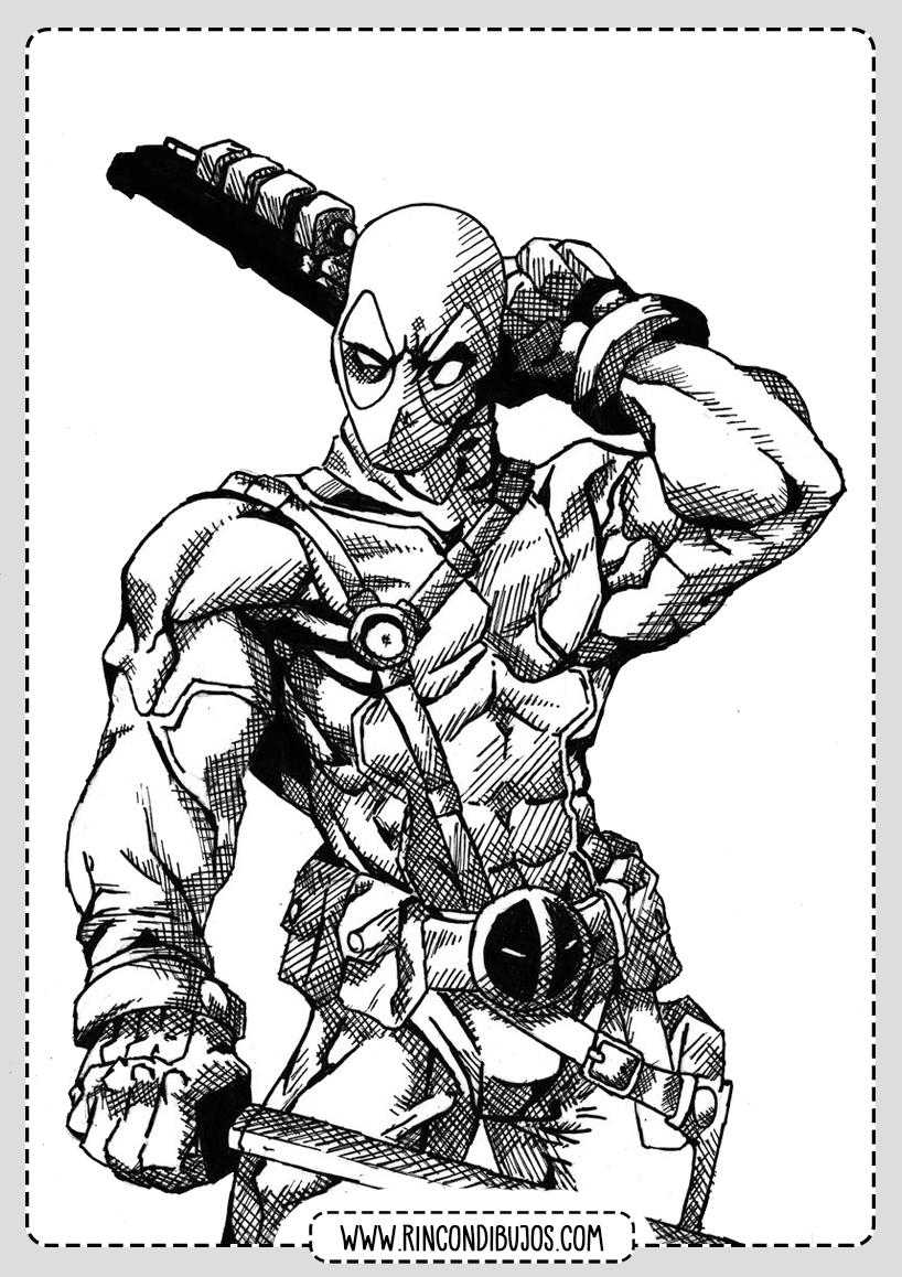 Deadpool Dibujos Colorear