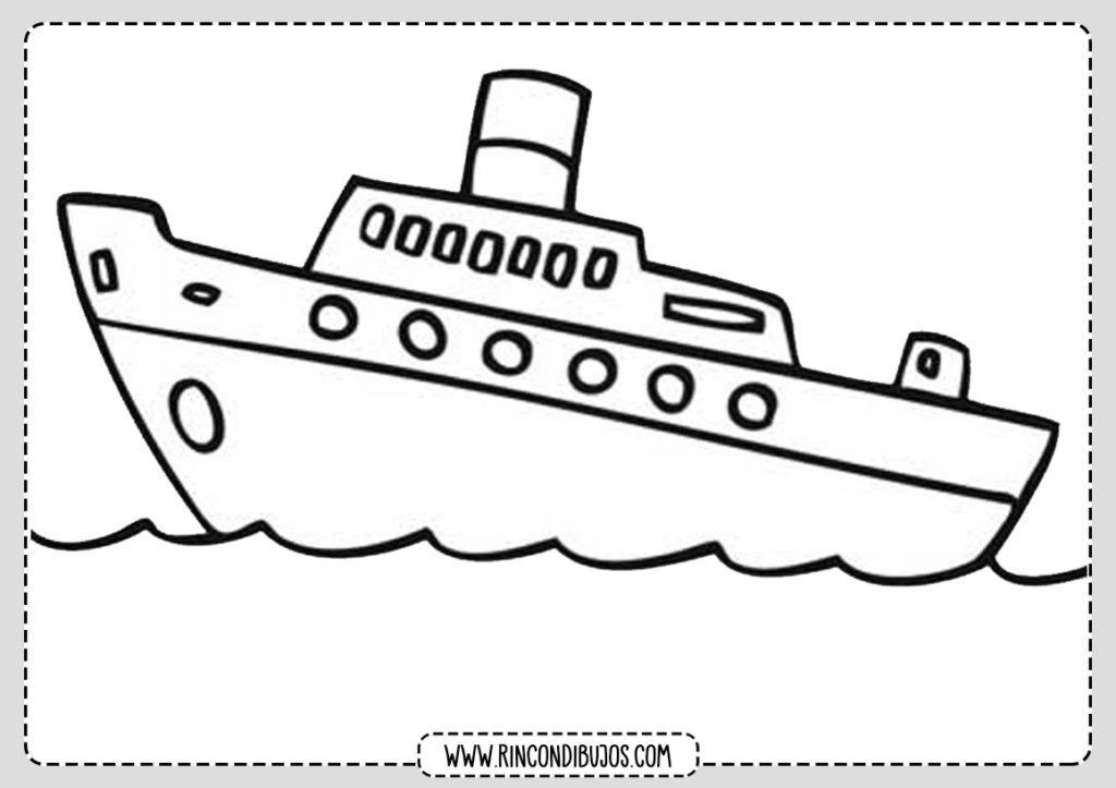 Dibujo Barco Para Colorear