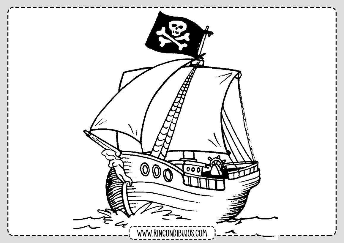 Dibujo Barco Pirata Colorear