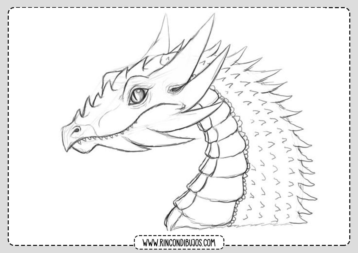 Dibujo Dragon Bonito para colorear
