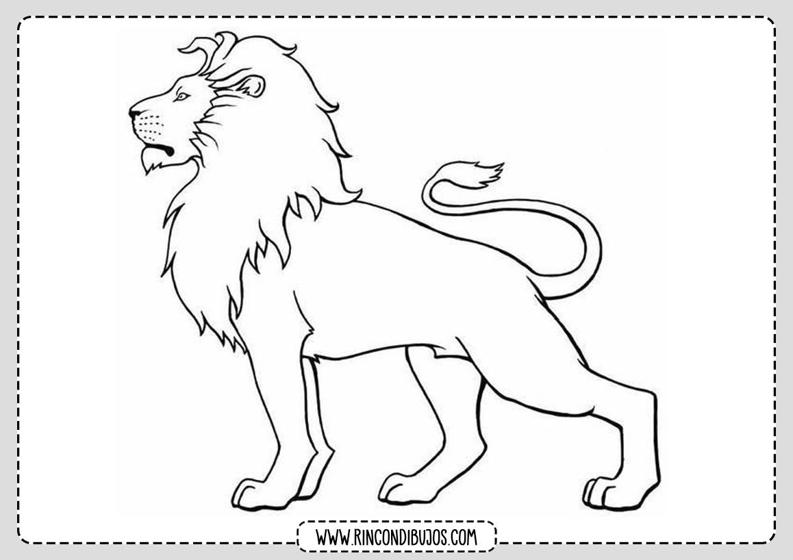 Dibujo Leon para colorear