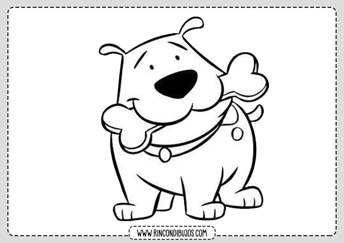 Dibujo Perro Colorear Facil
