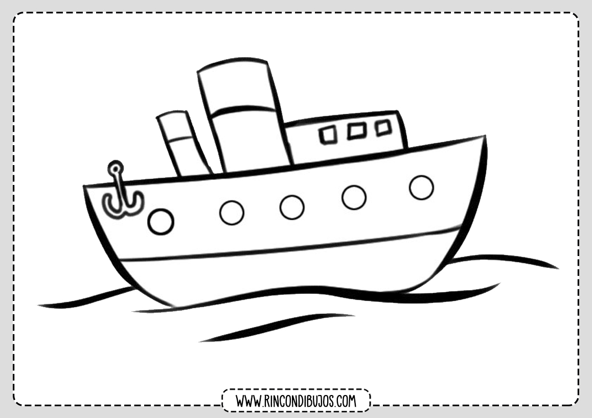 Dibujo de un Barco Para Colorear