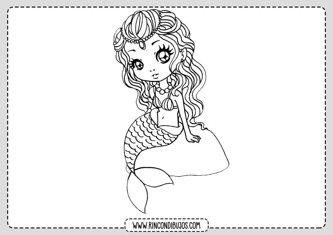 Dibujo de una Sirena