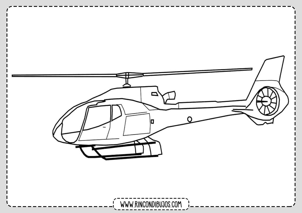 Dibujos colorear Helicopteros