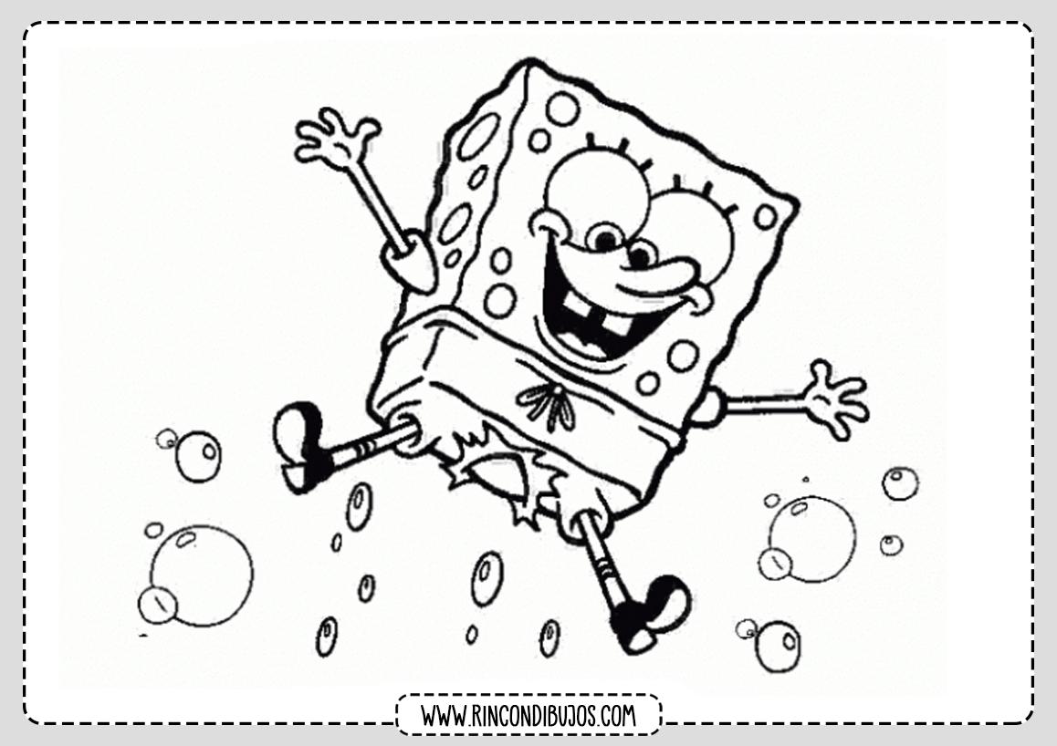 Dibujos de Bob Esponja Saltando