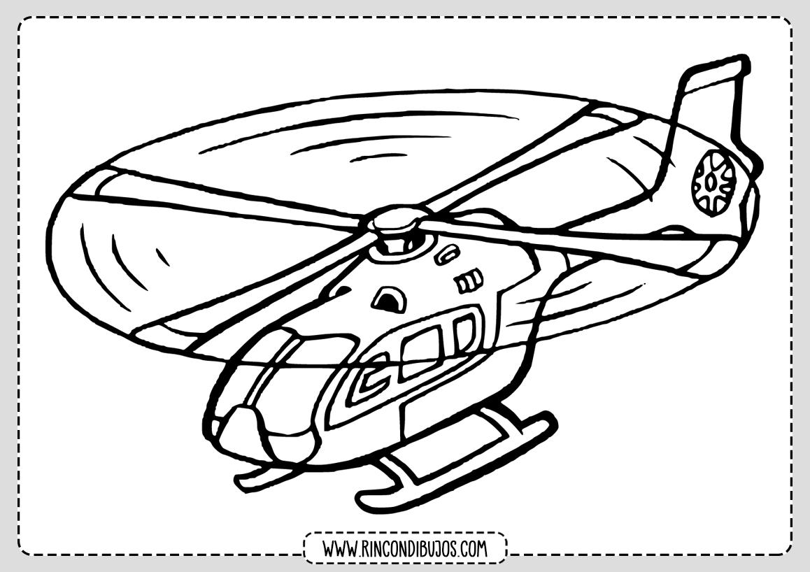 Dibujos de Helicopteros Volando Colorear