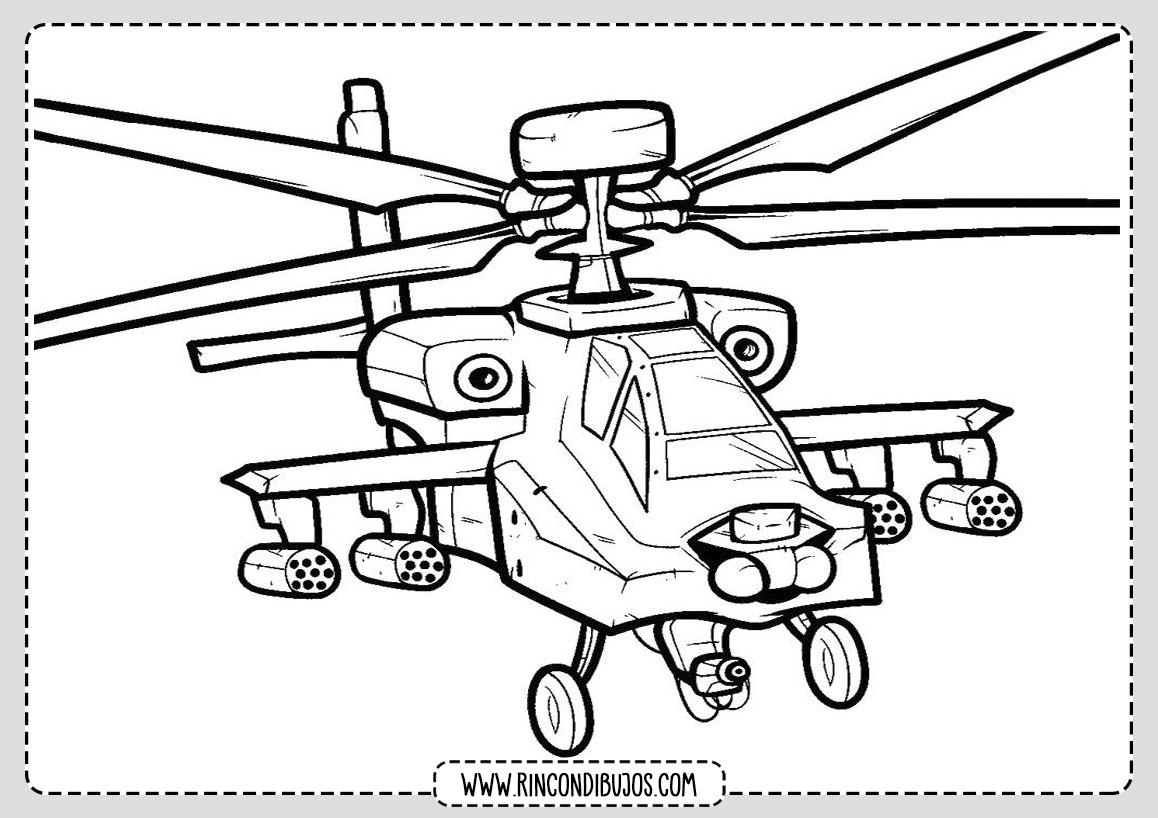 Dibujos de Helicopteros para colorear
