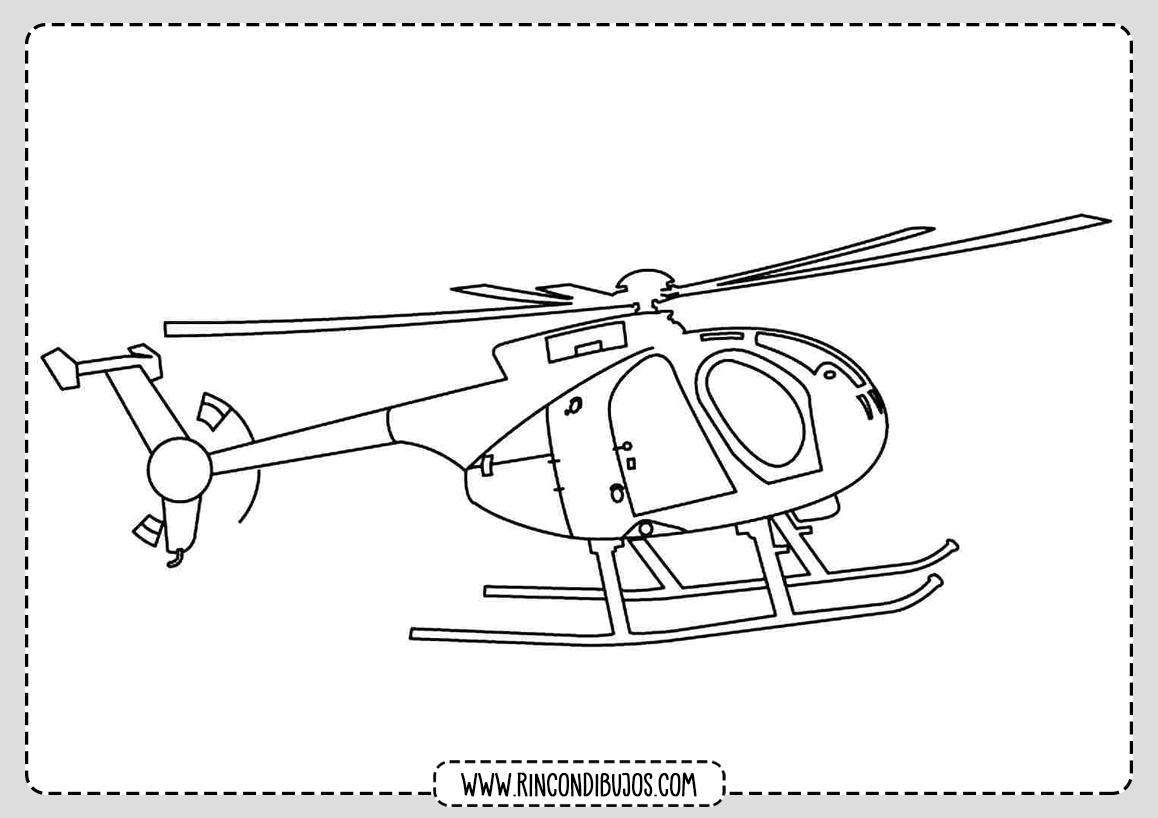 Dibujos de Helicopteros para pintar