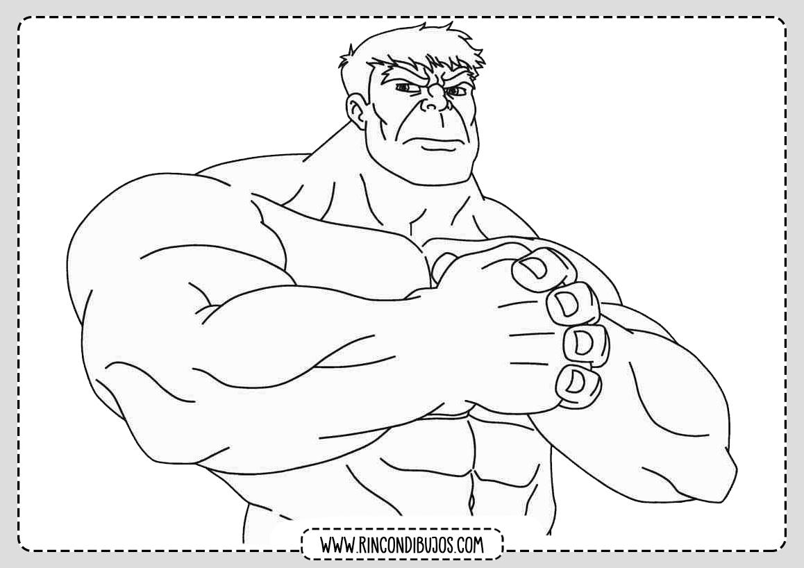 Dibujos de Hulk Colorear y Pintar