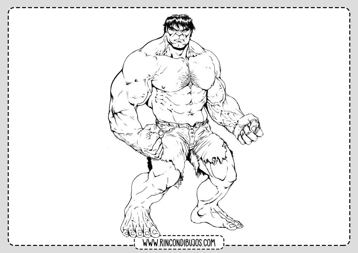 Dibujos de Hulk Marvel Colorear
