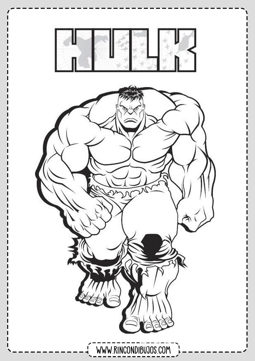 Dibujos de Hulk Marvel para Colorear