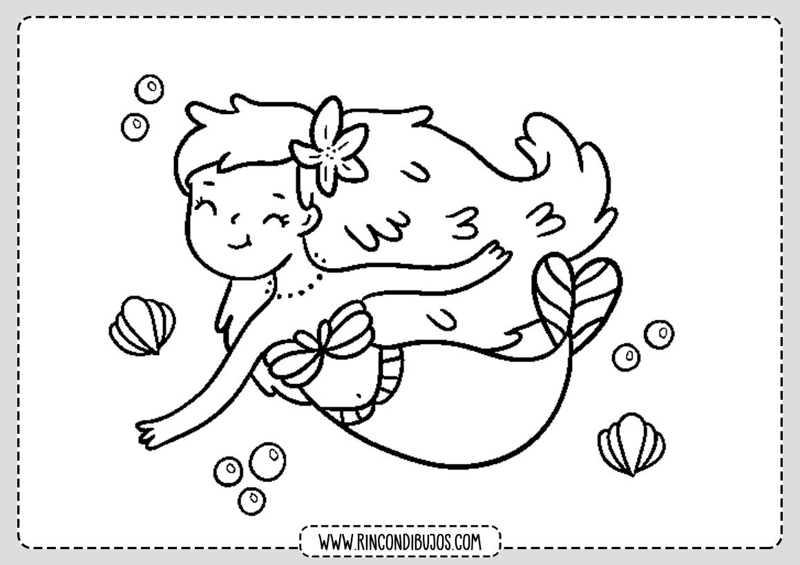Dibujos de Sirenas Colorear