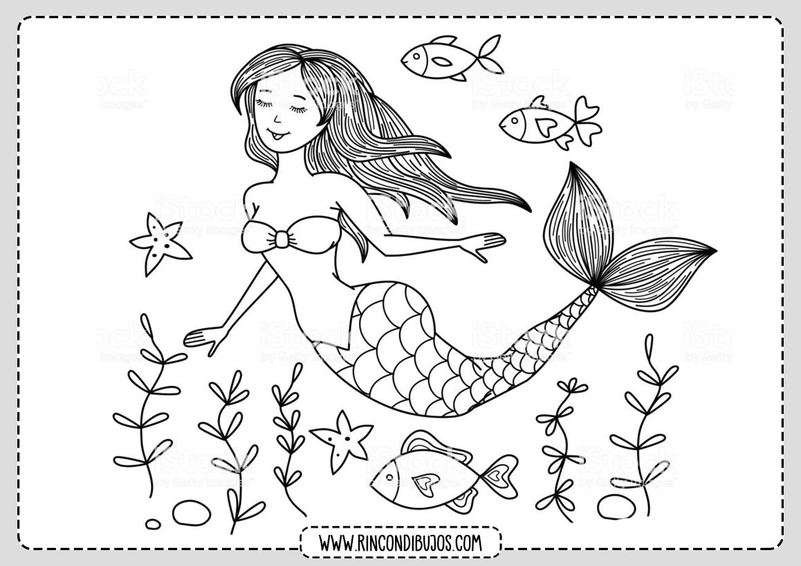 Dibujos de Sirenas para colorear