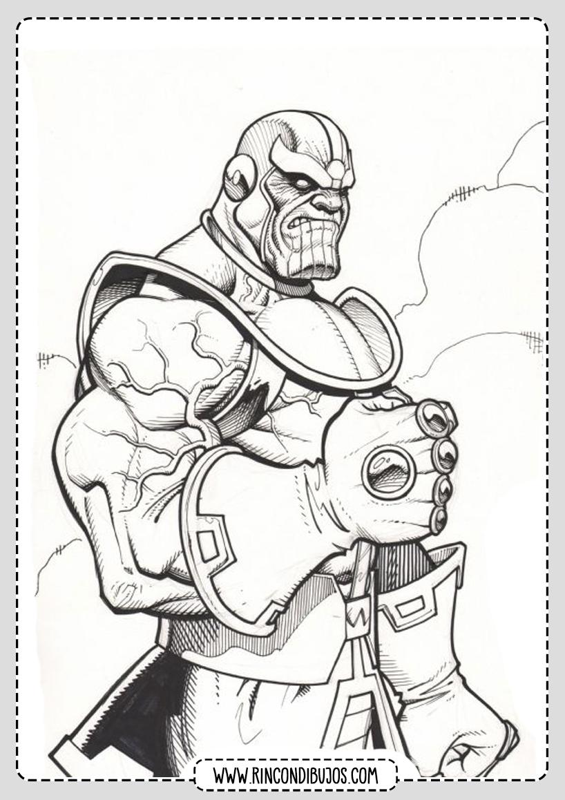 Dibujos de Thanos para colorear y pintar
