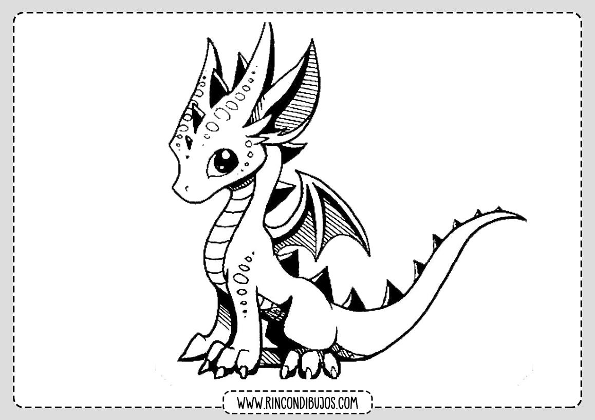Dragon Pequeño para colorear