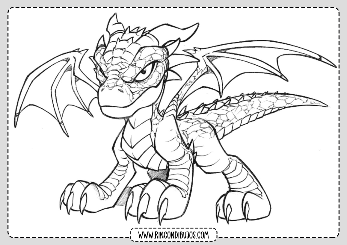 Dragones Pintar Colorear Dibujos
