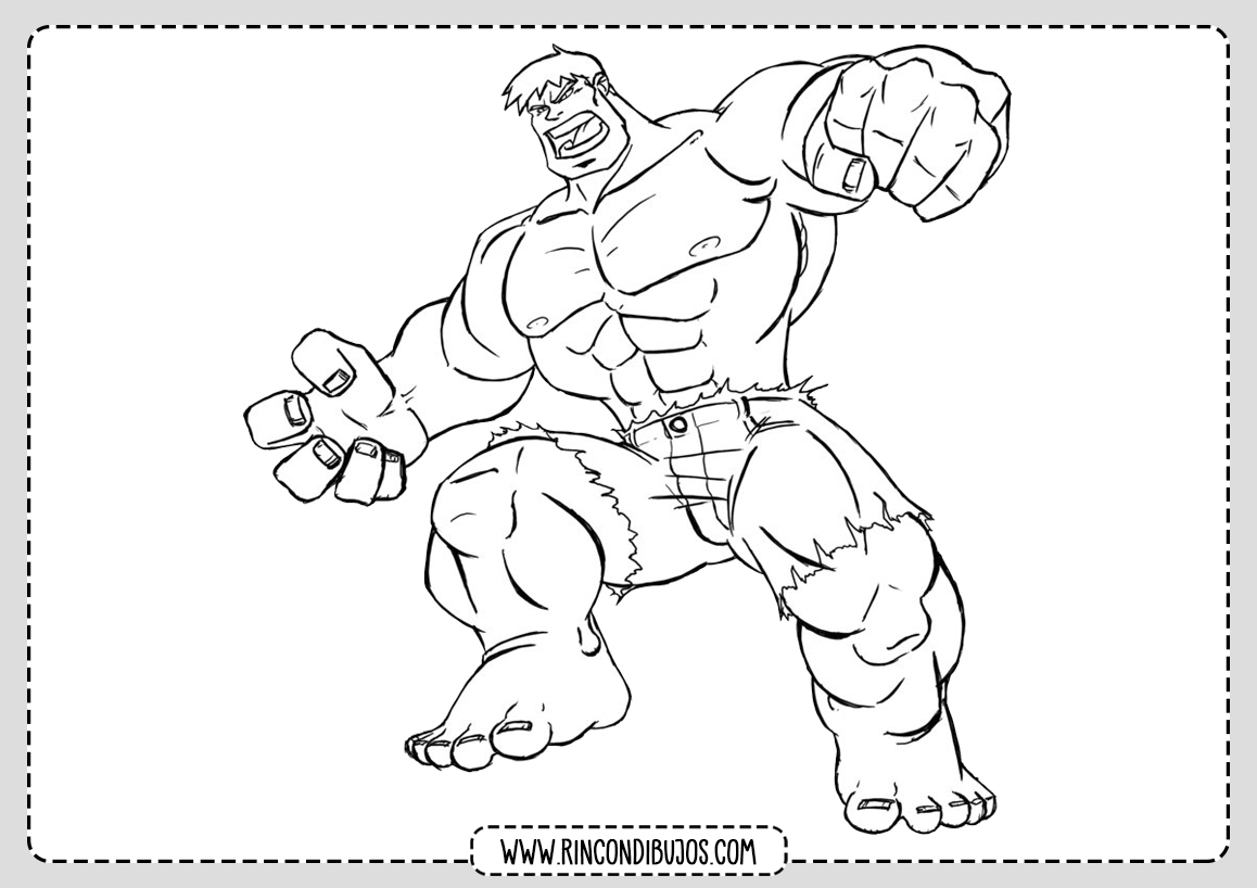 Hulk para Colorear