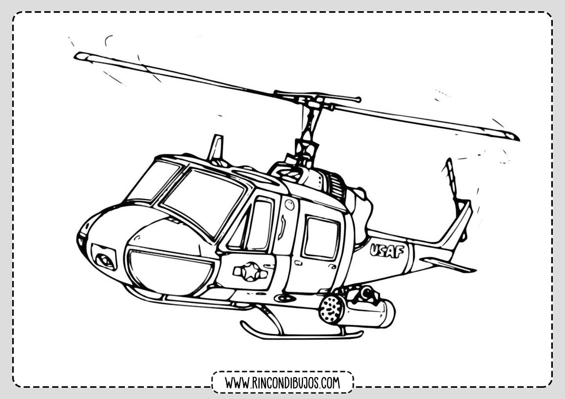 Imprimir Dibujos de Helicopteros