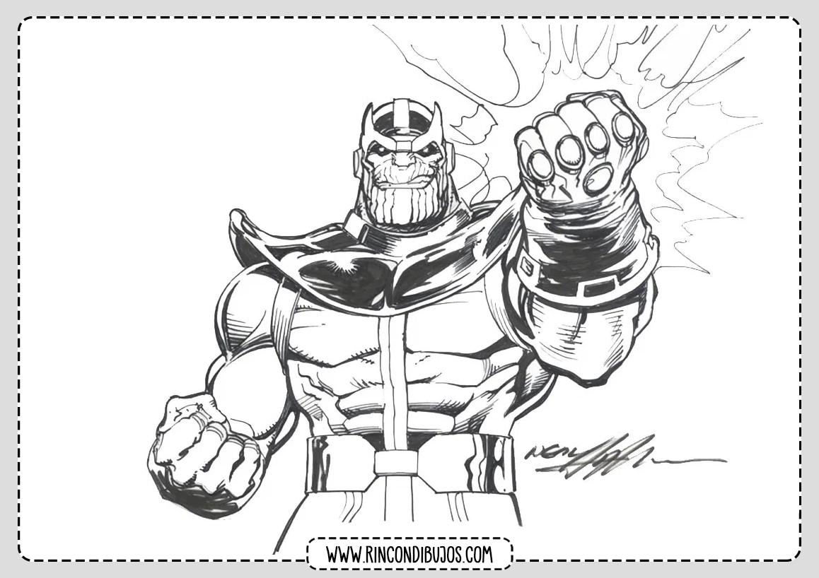 Marvel Dibujos de Thanos