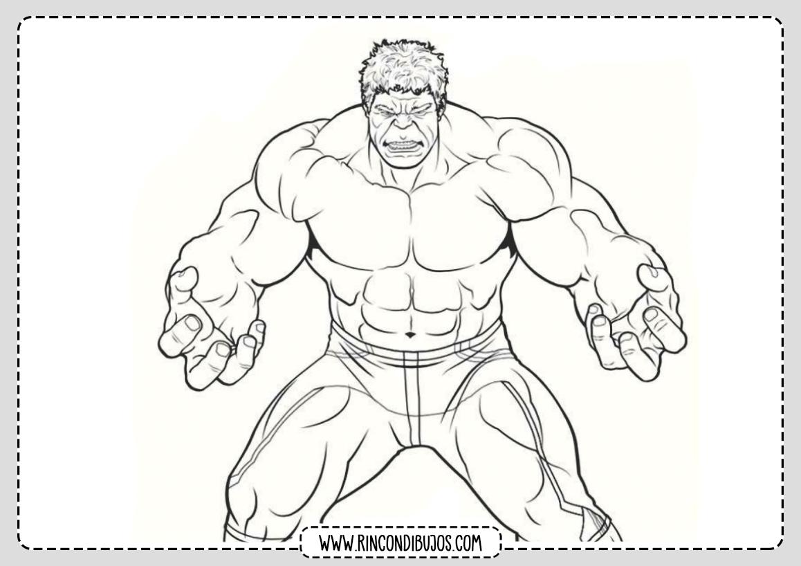 Pintar y Colorear Dibujos de Hulk