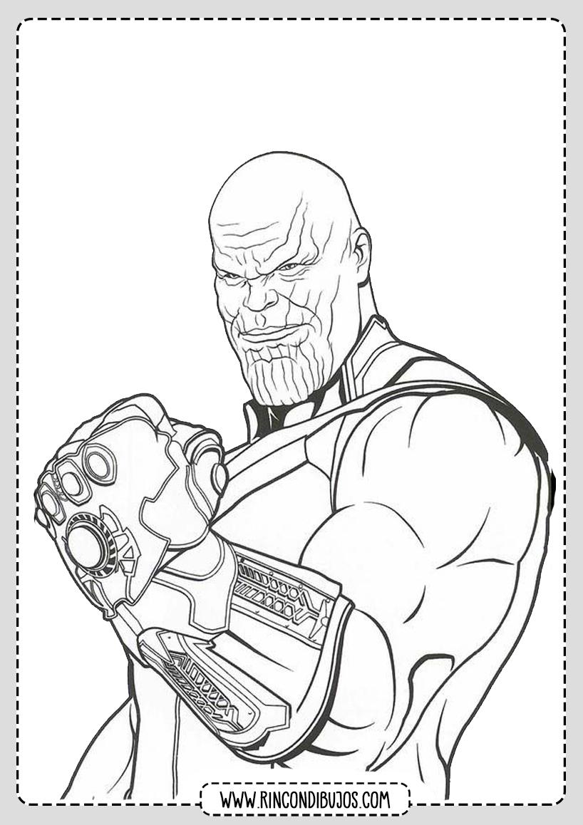 Pintar y Colorear Dibujos de Thanos